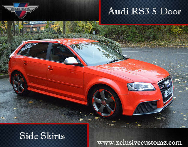 audi a3 to audi rs3 5 door side skirts for audi a3 8p 2004. Black Bedroom Furniture Sets. Home Design Ideas