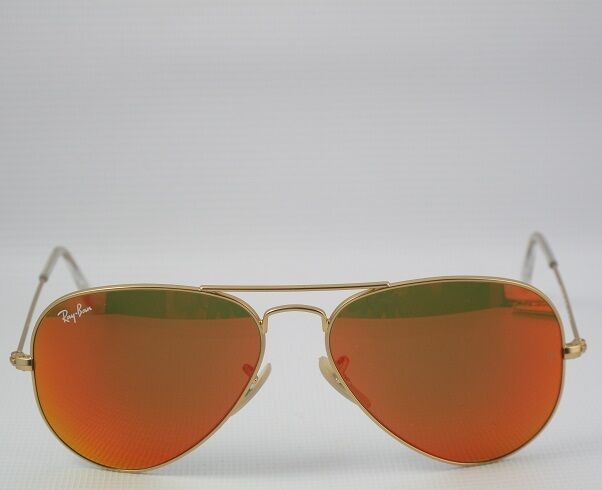 96e13d7573e811 Details about new RAY BAN SUNGLASSES Italy aviator 3025 112 69 orange  mirror Flash 55mm