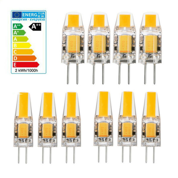 Dimmable Mini COB Light Bulb 10pcs G4 5W 6W LED Lamp AC DC 12V Replace Halogen