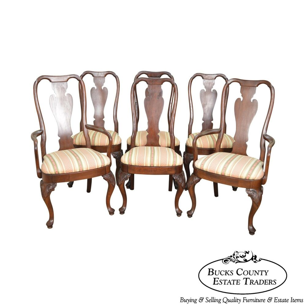 Knob Creek Solid Cherry Wood Set 6 Queen Anne Dining