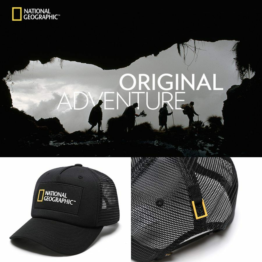 National Geographic Adventure Mesh Snapback Cap Hat Adjustable Black  N171UHA050 549f8dde9df