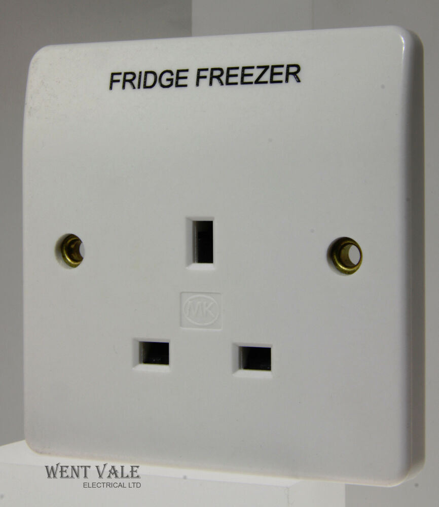 Mk Logic Plus K780whi Ff Single Unswitched Socket Marked Fridge Wiring Accessories Freezer 5017490219947 Ebay
