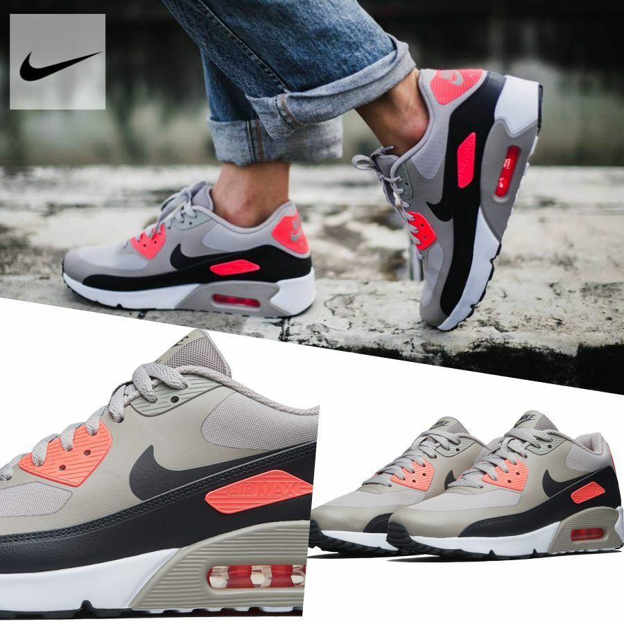 7c570c0643b92 Nike Air Max 90 Ultra 2.0 Essential Running Sneakers 875695-010 Sz 5 ...