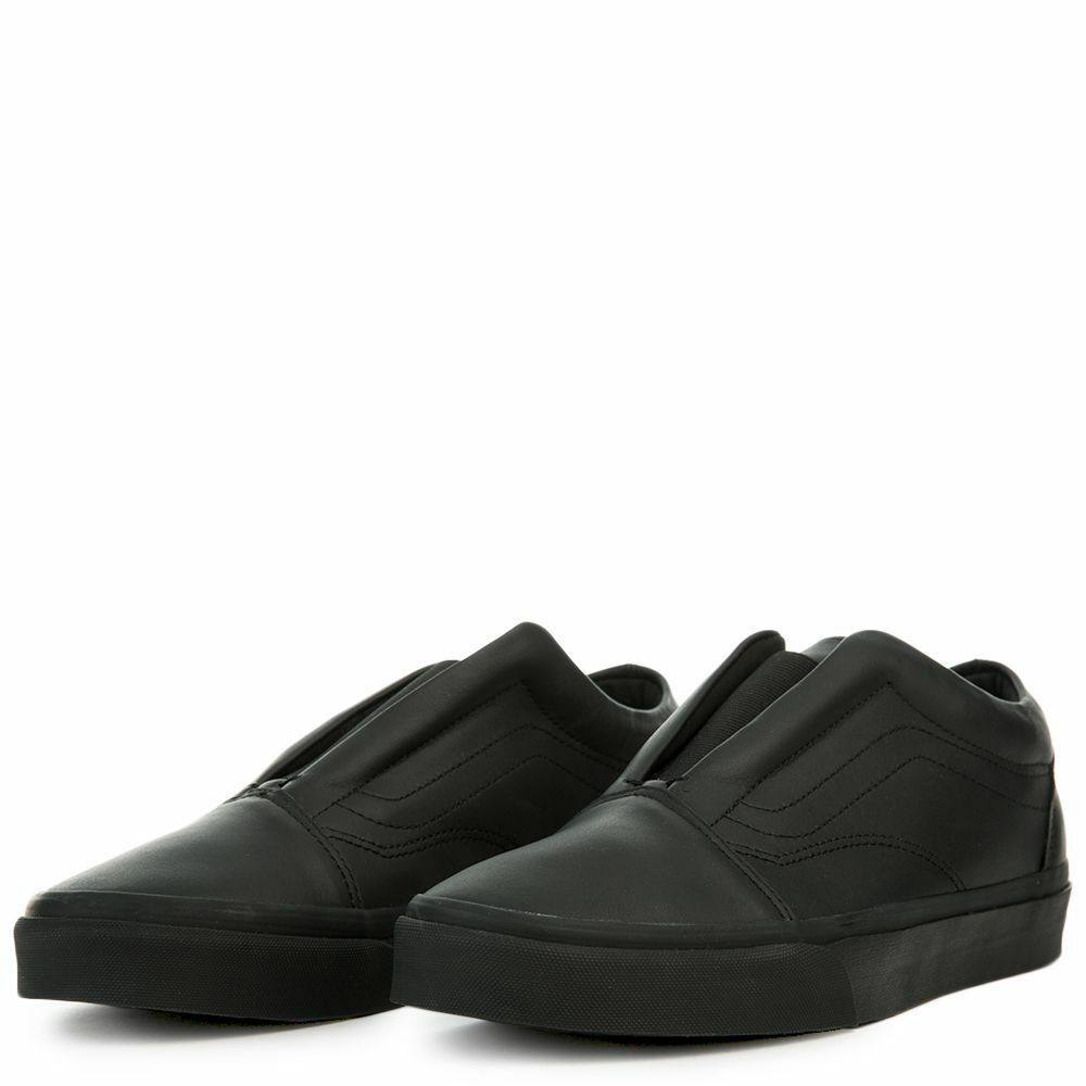 c63fdfd845 Details about new mens 7 or 8 vans old skool laceless DX mono monochrome  leather sk8