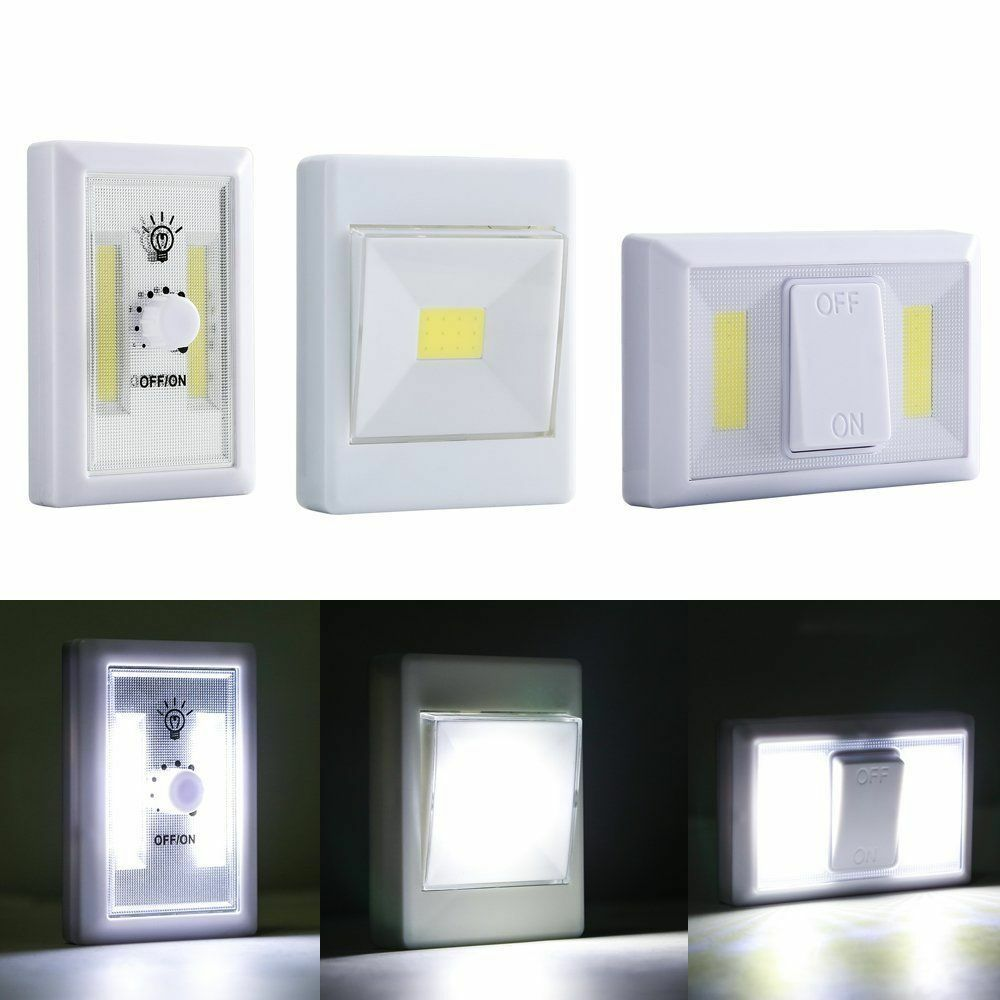 Magnetic Cob Led Wall Switch Light Battery Operated