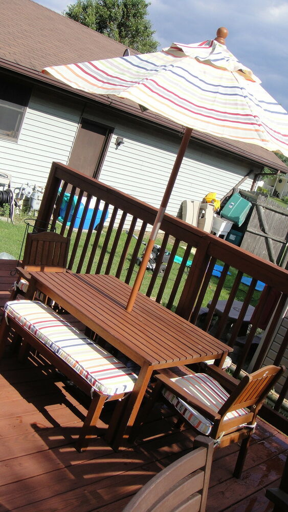 RARE POTTERY BARN KIDS CHESAPEAKE TABLE CHAIRS BENCHES CUSHIONS ...