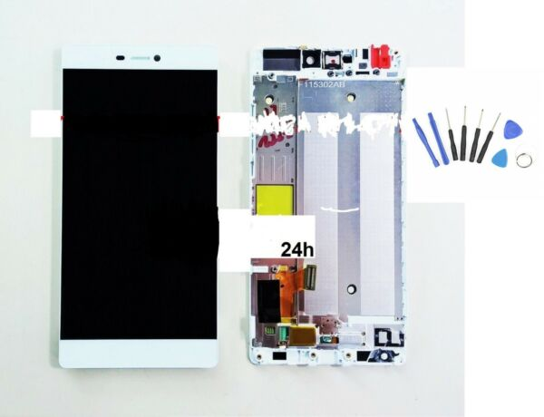 DISPLAY LCD+TOUCH+FRAME COMPLETO P8  GRA-L09 BIANCO originale