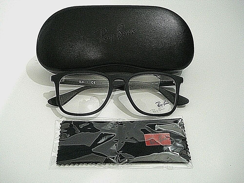 Ray Ban RB7074-F RB 7074-F 5364 Black Rubber Eyeglasses Rx-Able ...