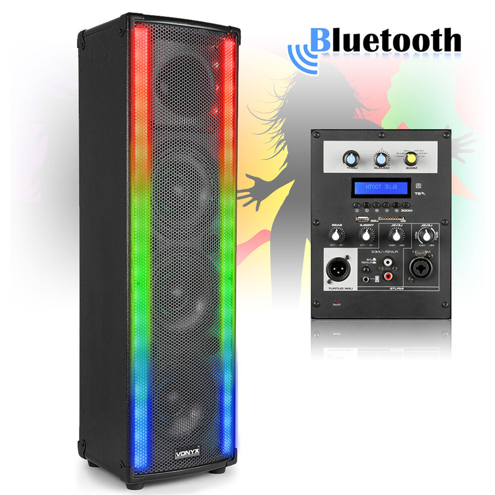 Home Disco Lights: Bluetooth Disco Home Party Speaker With LED Metering Mood