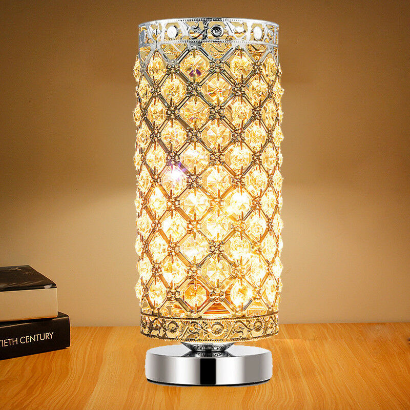 Bedroom Lamps On Ebay: Energy Saving Table Lamps Crystal Bedside Nightstand Desk