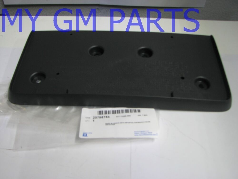2010-2015 GMC TERRAIN FRONT LICENSE PLATE MOUNT NEW GM # 25798784