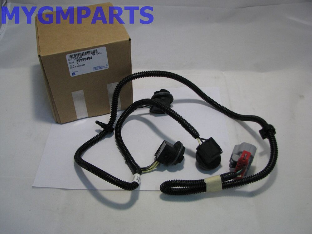Chevy Silverado Drivers Side Tail Light Wiring Harness
