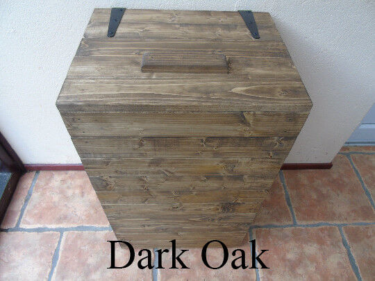 Handmade Rustic Style Wooden Laundry Basket Many Colours