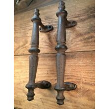 2 Handles cast iron antique style Rustic Barn Gate Pulls Drawer Door Shed 9-1/4