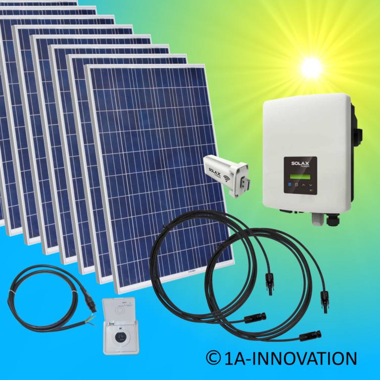 solaranlage komplettpaket 2000watt 2 kw solar anlage hausnetzeinspeisung plug ebay. Black Bedroom Furniture Sets. Home Design Ideas