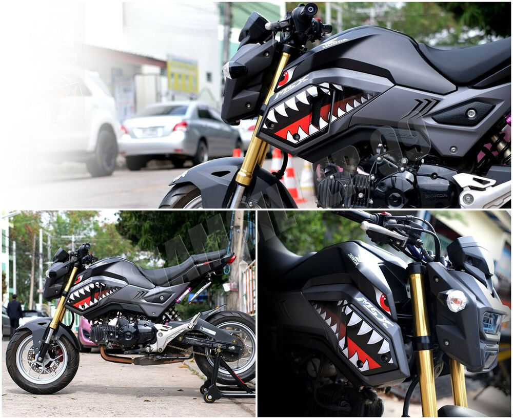 Honda Msx Grom Sf 125 Shark Sticker 3m Decal Set Fairings
