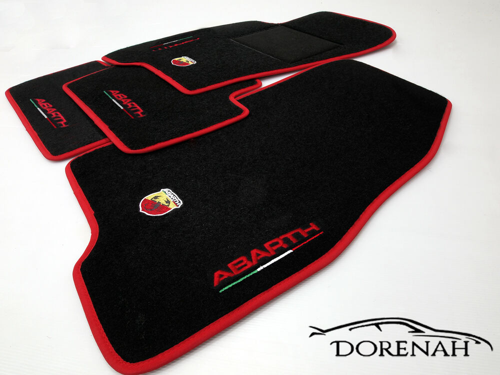 tappetini grande punto abarth bordi personalizzabili no. Black Bedroom Furniture Sets. Home Design Ideas