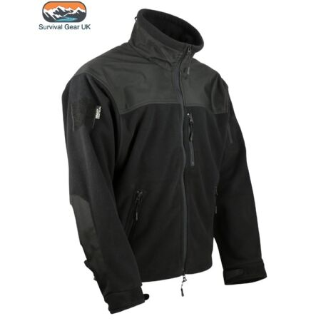 img-BLACK TACTICAL DEFENDER ZIP FLEECE JACKET MILITARY SECURITY AIRSOFT WARM