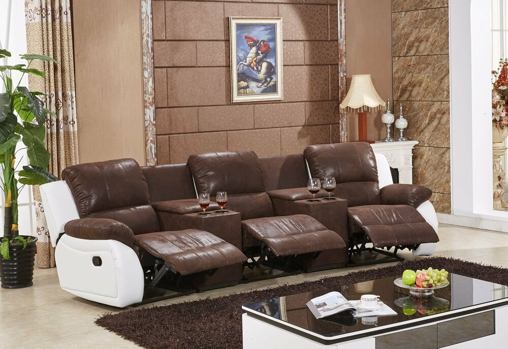 sofa kinosofa relaxcouch fernsehsofa recliner heimkino 5129 cup 3 pu sofort ebay. Black Bedroom Furniture Sets. Home Design Ideas