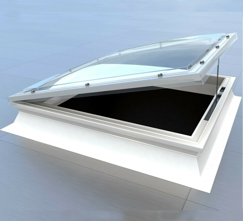 Opening Dome Roof Light Polycarbonate Flat Roof Skylight