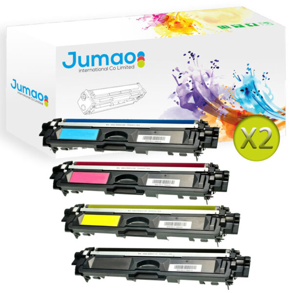 8 Toners cartouches Jumao type TN241 / TN245 pour Brother DCP-9015CDW