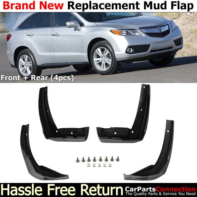Front Rear Mud Flaps Splash Guards 2013-2015 For Acura RDX