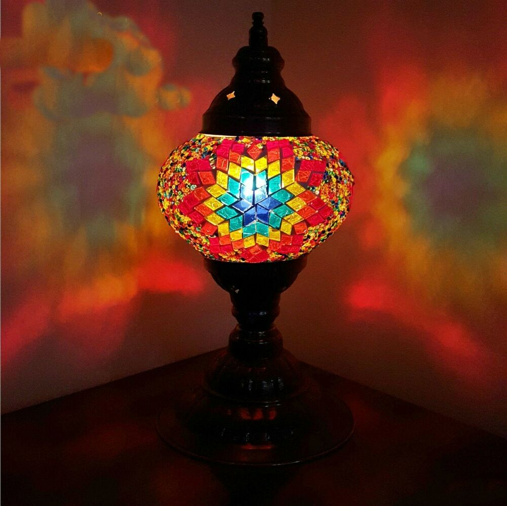 Turkish Moroccan Colourful Lamp Light Tiffany Style Glass