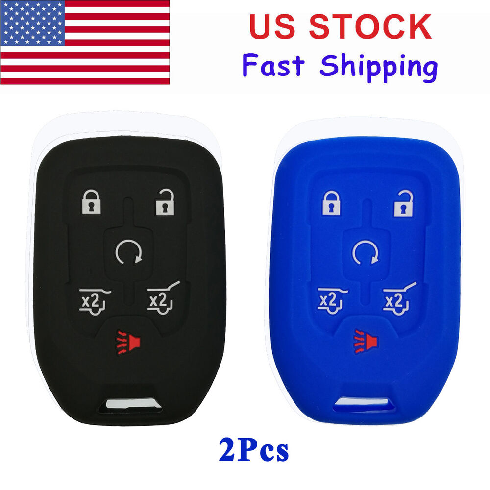 2X Key Fob Cover Case Bag For 2016 GMC YUKON 2017 CHEVY