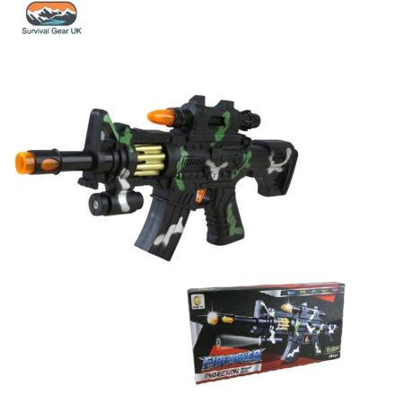 img-KIDS M4 Firepower Toy Gun with Lights, Sounds and Rotating Magazine Army