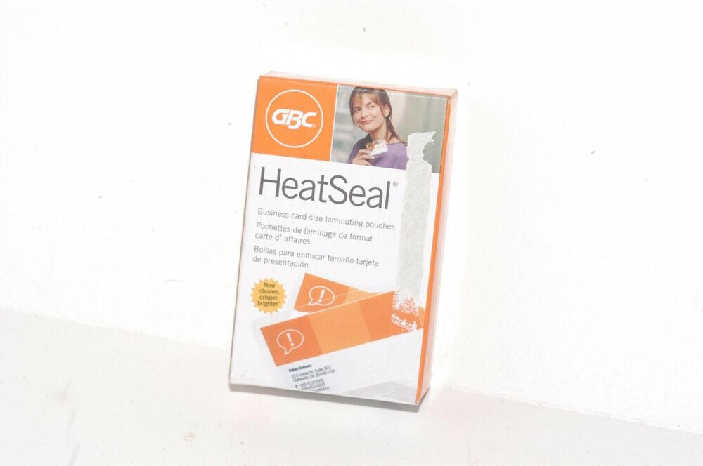 GBC 51005 HeatSeal Ultraclear Thermal Laminating Pouches Business ...