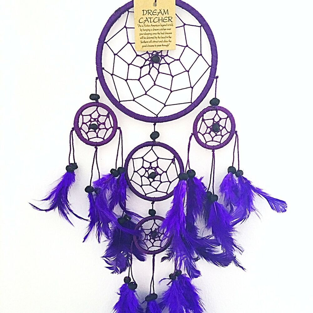 Dream Catcher Girls Boys Purple Dreamcatcher  Ebay-6555