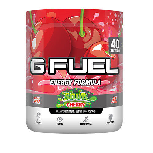 gamma labs g fuel sour cherry gfuel 40 servings. Black Bedroom Furniture Sets. Home Design Ideas
