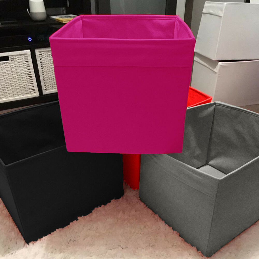 Square Collapsible Canvas Storage Box Foldable Kids Toys: Fold Able Square Canvas Storage Folding Box Fabric Cubes