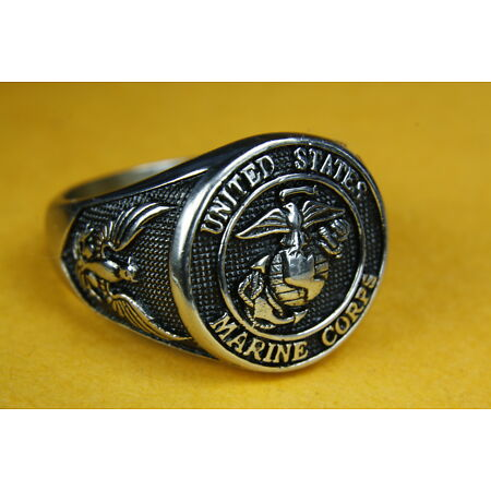 img-U.S.NAVY UNITED STATES US Marine Corps Seal Ring Military Men's Ring 137