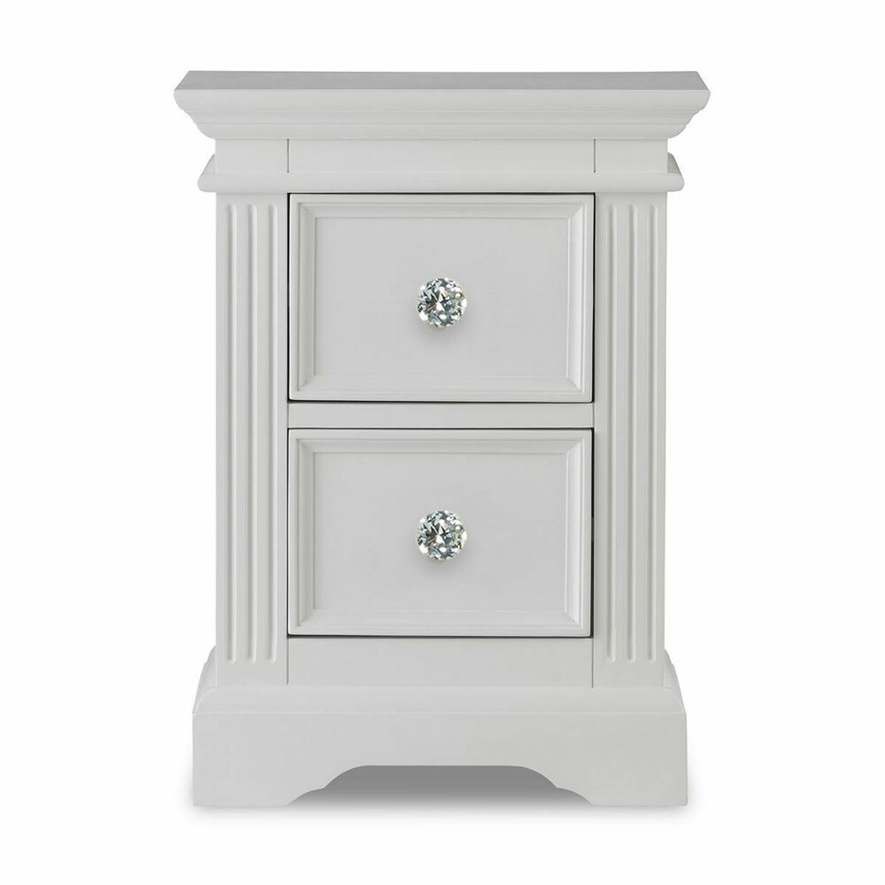 Crystal Kitchen Cabinets: Gainsborough White Bedside Table, Cabinet, 2 Drawers