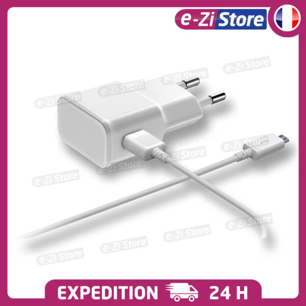 CHARGEUR SAMSUNG S6 S7 Edge MICRO USB LOT KIT 2 EN 1 CABLE + SECTEUR 2A ANDROID