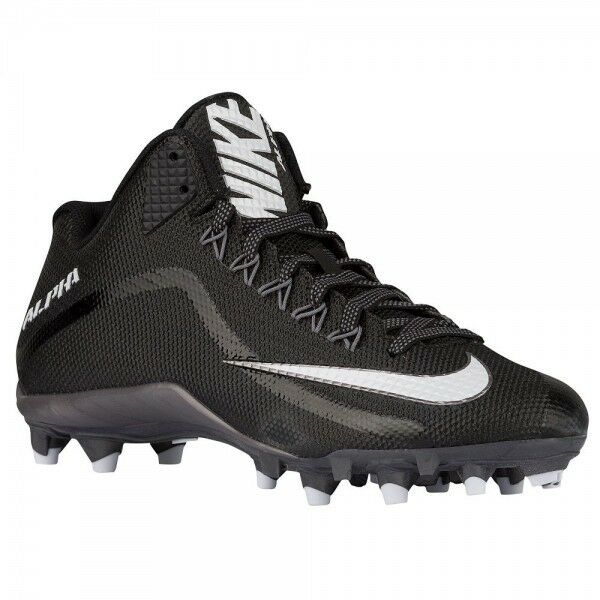 fdbab627b866 Details about Nike Alpha Pro 2 3 4 TD American Football Cleats Boots Black  719927 010 UK 8.5