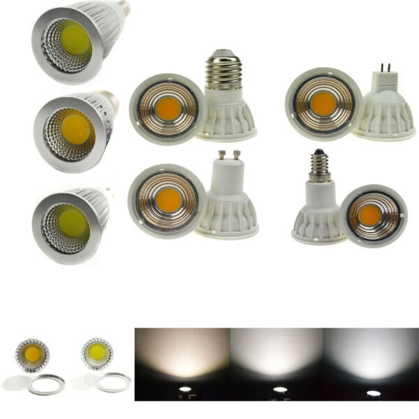 Dimmable COB LED Spot Light Bulb MR16/GU10/E27/E14 Ultra Bright 6W 9W 12W 15W