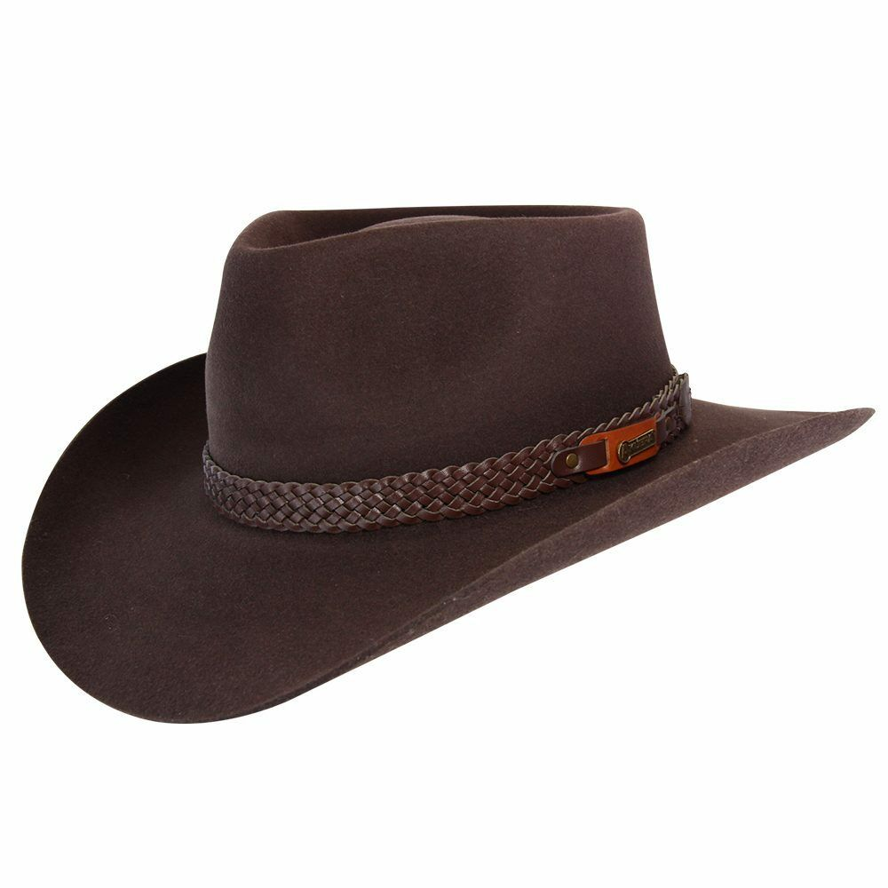 Details about Akubra Snowy River Hat - Rodeo Brown e702550c700