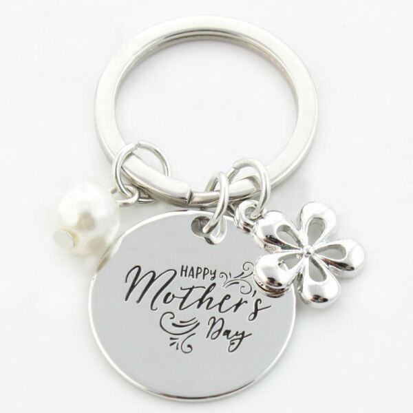 TFB MUMS KEYS KEYRING Chain Charm Gift Love Mothers Day Birthday Car Handbag