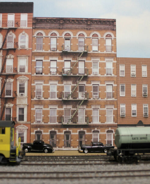 #153 HO scale background building OLD APARTMENT BUILDING # 2 *FREE SHIPPING*