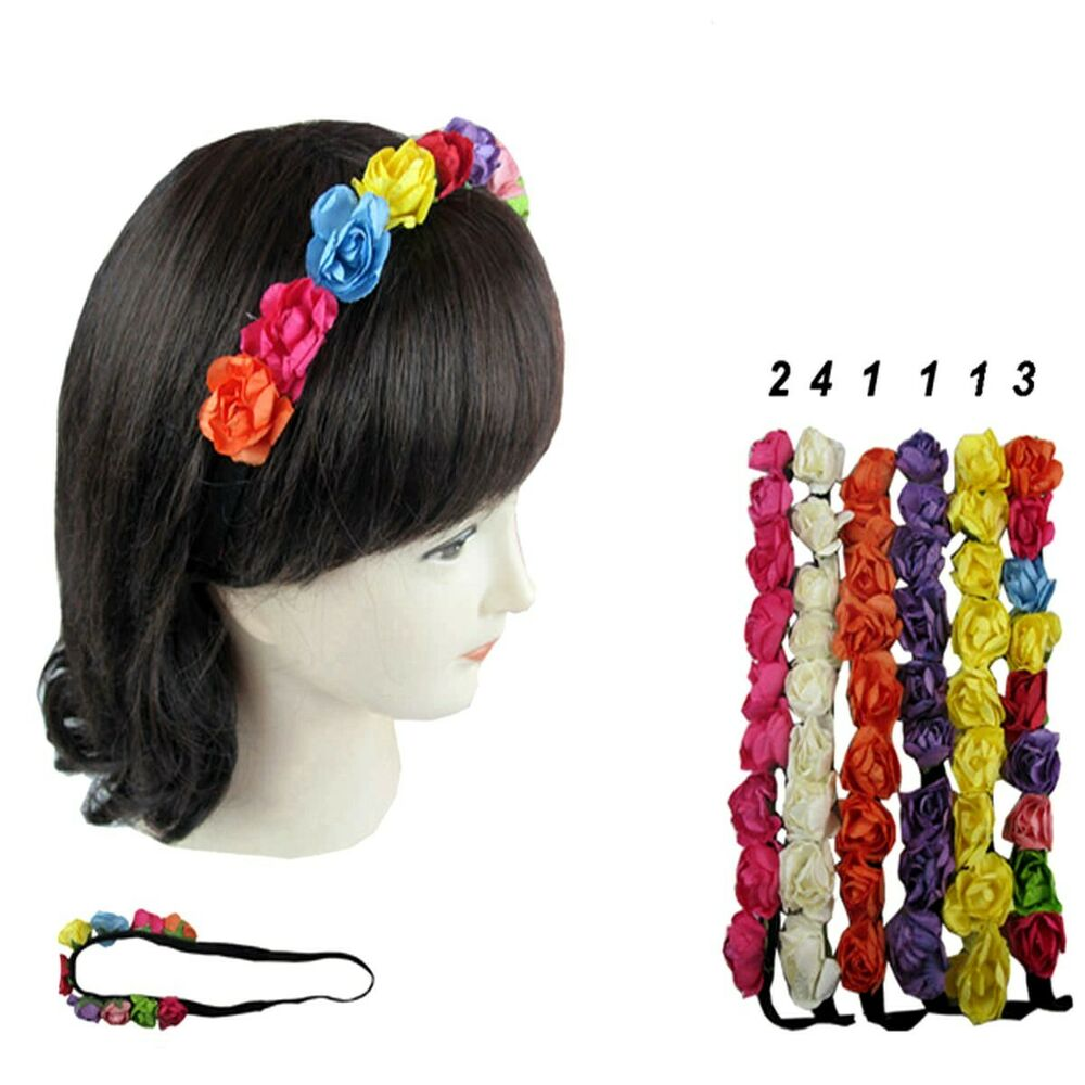 12pcs Boho Halo Flower Bridal Headband Hairband Crown Garland