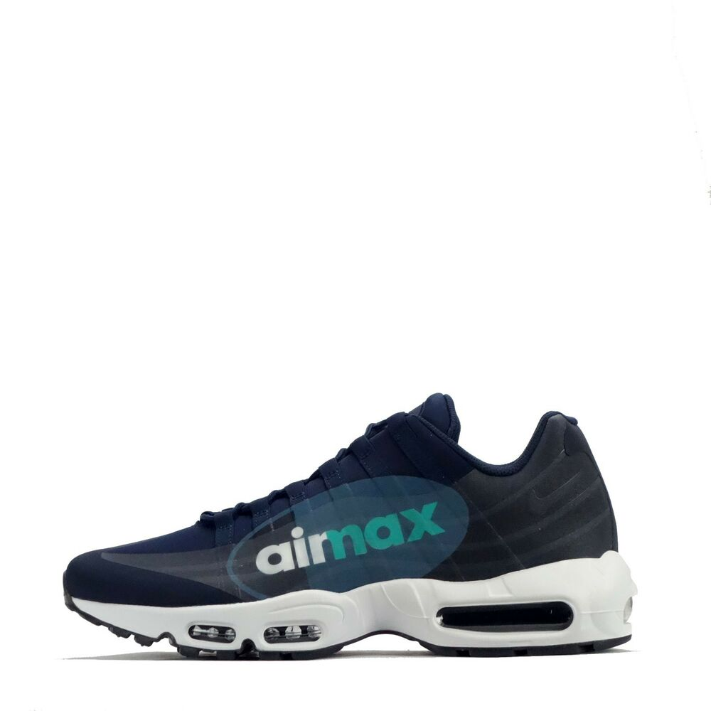 competitive price ff6bf f3556 Details about Nike Air Max 95 NS GPX Big Logo Mens Casual Walking Style Shoes  ObsidianWhite