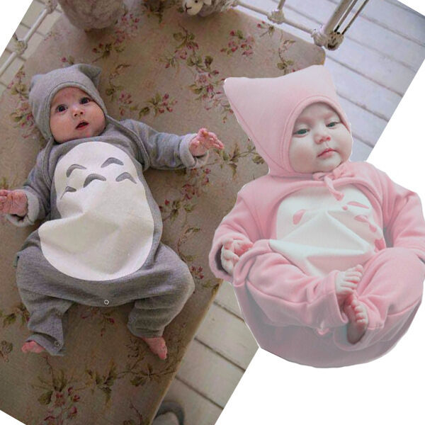 Details about Autumn Spring Totoro Baby Bodysuit Outfit Costume Rompers  Clothes Sets 0-18M 23a59f5f0