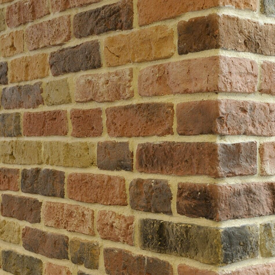 Sample Front Elevation Tiles : Sunset blend brick slips wall cladding feature
