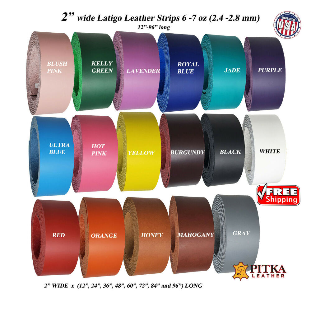 Jade Latigo Leather Strips  6-7 oz Engraving up to 96 in long Craft//Project