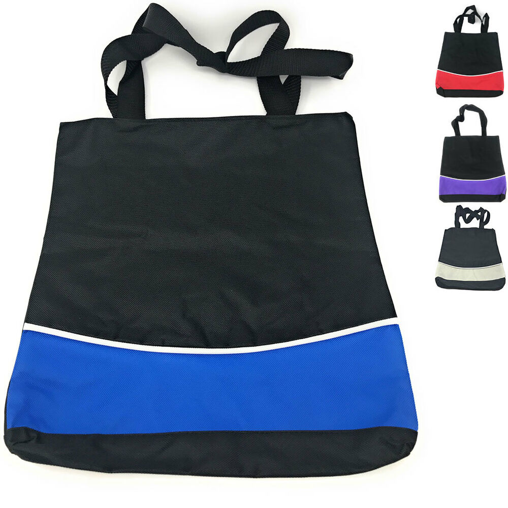 be34b4bc80a Details about 1 Dozen Fashion Two Tone Reusable Grocery Shopping Totes Bags  Wholesale