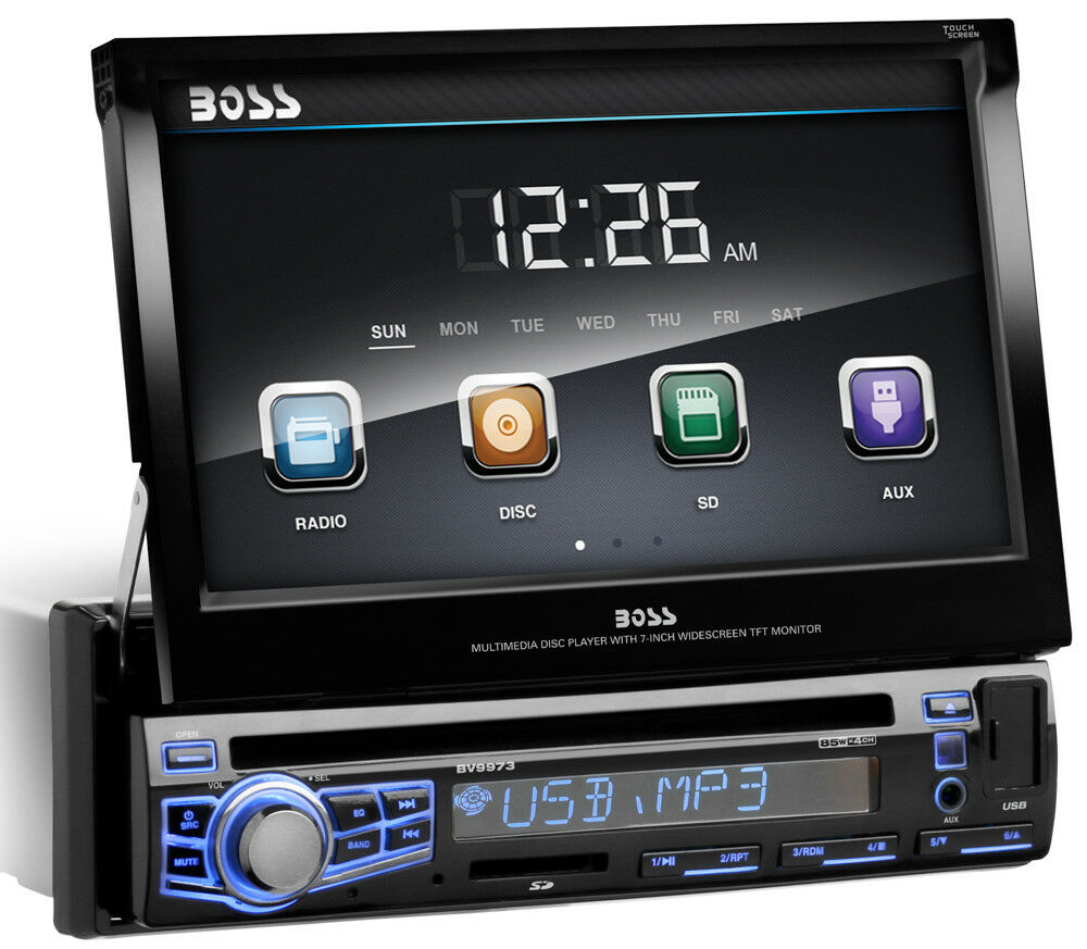 boss bv9973 car dvd cd player 7 touchscreen monitor ipod usb in color changing ebay. Black Bedroom Furniture Sets. Home Design Ideas