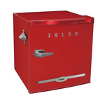 New Curtis FR176RED Igloo 1.6 CuFt Retro Fridge RD