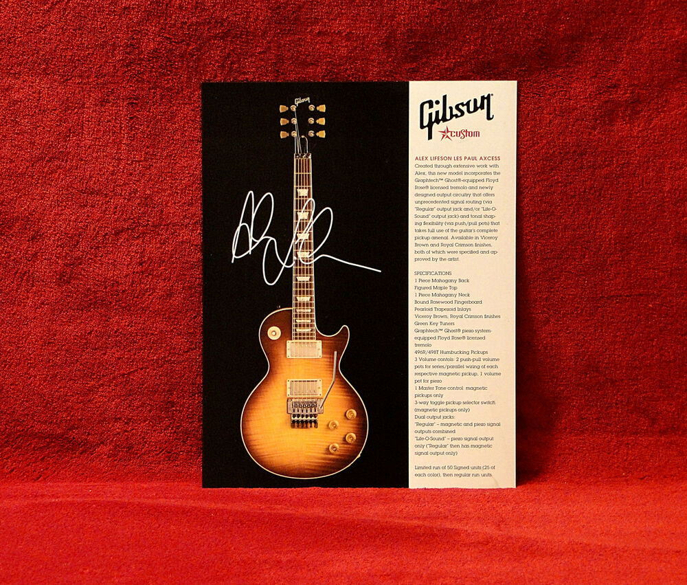 Rushalex Lifeson Les Paul Axcess 1 Sided Gibson Promo Ebay
